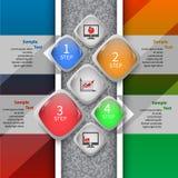 3D carta astratta Infographics Immagini Stock