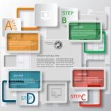 3D carta astratta Infographics Immagini Stock Libere da Diritti