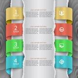 3D carta astratta Infographics Fotografia Stock