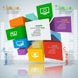 3D carta astratta Infographics Fotografie Stock Libere da Diritti