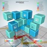 3D carta astratta Infographics illustrazione di stock