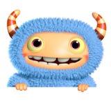 3d cartoon blue monster Stock Image
