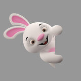 3D cartoon character, easter bunny Stock Image