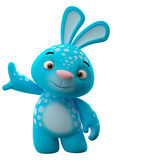 3D cartoon character, easter bunny Stock Photography