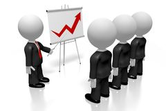 3D businessmen, flip chart - success concept royalty free illustration