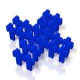 3D cartoon characters - teamwork concept. 3D blue cartoon characters on white background - teamwork concept Stock Photos
