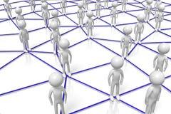 3D cartoon characters - social network concept. 3D cartoon characters on white background - social network/ teamwork concept Royalty Free Stock Photos