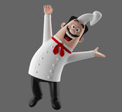 3d cartoon cook character Royalty Free Stock Photography