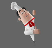 3d cartoon cook character Stock Images