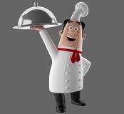3d cartoon cook character Stock Image