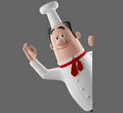 3d cartoon cook character Stock Photo