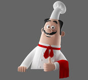 3d cartoon cook character Stock Photography