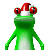 3D cartoon frog - Christmas card royalty free illustration