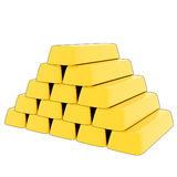 3D Cartoon Gold bars. 3D rendered, cartoon pile of gold bars Royalty Free Stock Photos