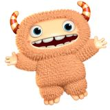 3d cartoon monster Royalty Free Stock Photo