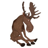 3d cartoon moose Stock Photo