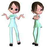 3d Cartoon nurse Stock Photography