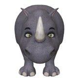 3d cartoon rhino Stock Photos