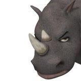 3d cartoon rhino, macro Royalty Free Stock Photography