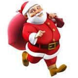 3d cartoon santa Stock Images