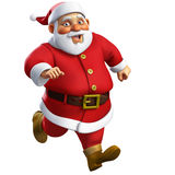 3d cartoon santa Royalty Free Stock Photos
