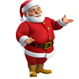 3d cartoon santa Stock Images