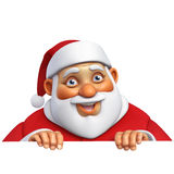 3d cartoon santa Stock Image