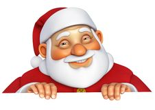 3d cartoon santa Stock Photo