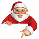 3d cartoon santa Royalty Free Stock Photo