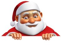 3d cartoon santa Royalty Free Stock Image