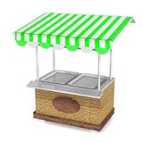 3d food Trolley. 3d Carts , cotton candy, hot dog, ice cream kiosk on wheels, sweets and confectionery, isolated and flat style  illustration. 3d Illustration Stock Image