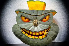 3D carved Halloween pumpkin Royalty Free Stock Image