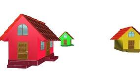 3d casa, animação Foto de Stock Royalty Free