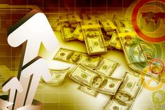 3d Cash dollar Royalty Free Stock Images