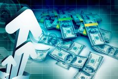 3d Cash dollar Royalty Free Stock Image