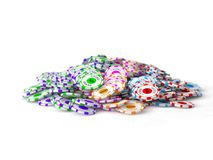 3d casino chips Stock Photo