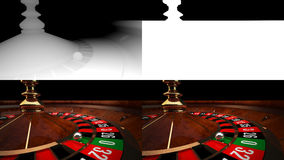 3D Casino Roulette with Alpha channel and Z-Depth Royalty Free Stock Image