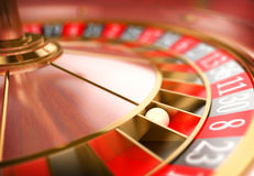 3D Casino roulette. Gambling concept Stock Photos