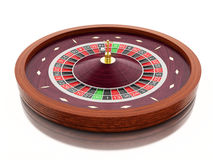 3d Casino roulette wheel. Gambling games. Stock Photos