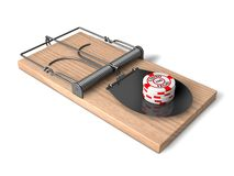 3d casino trap. Royalty Free Stock Image