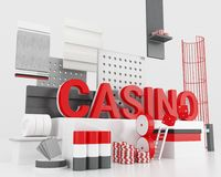 3d casinoconcept Stock Fotografie