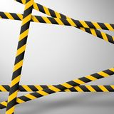 Caution lines isolated. Warning tapes. Danger signs. Vector illustration. stock illustration