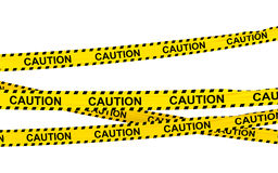 3d caution ribbons Royalty Free Stock Photography