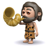 3d Caveman alert Stock Photo