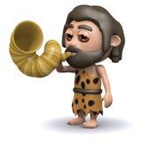 3d Caveman alert Stock Photo