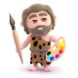 3d Caveman is an artist Stock Images