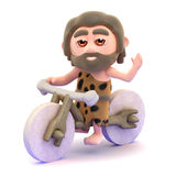 3d Caveman biker Royalty Free Stock Photography