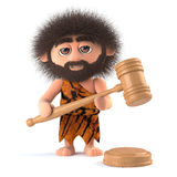 3d Caveman runs an auction Royalty Free Stock Photography