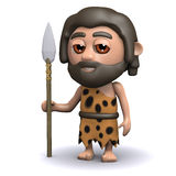 3d Caveman with spear Stock Photography