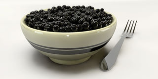 A 3d Caviar on a white backgrounds Stock Image